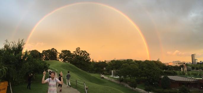 Double rainbow in 1988 Summer Olympics, Olympic Park