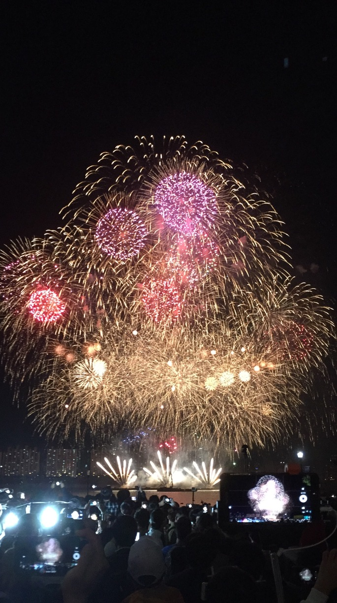 Japanese finale at fireworks show in Seoul International Fireworks Festival 2016