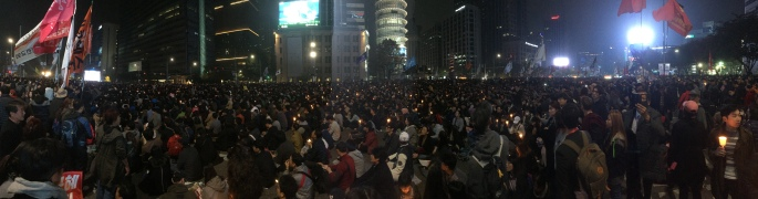 Panoramic view of the protest 2016