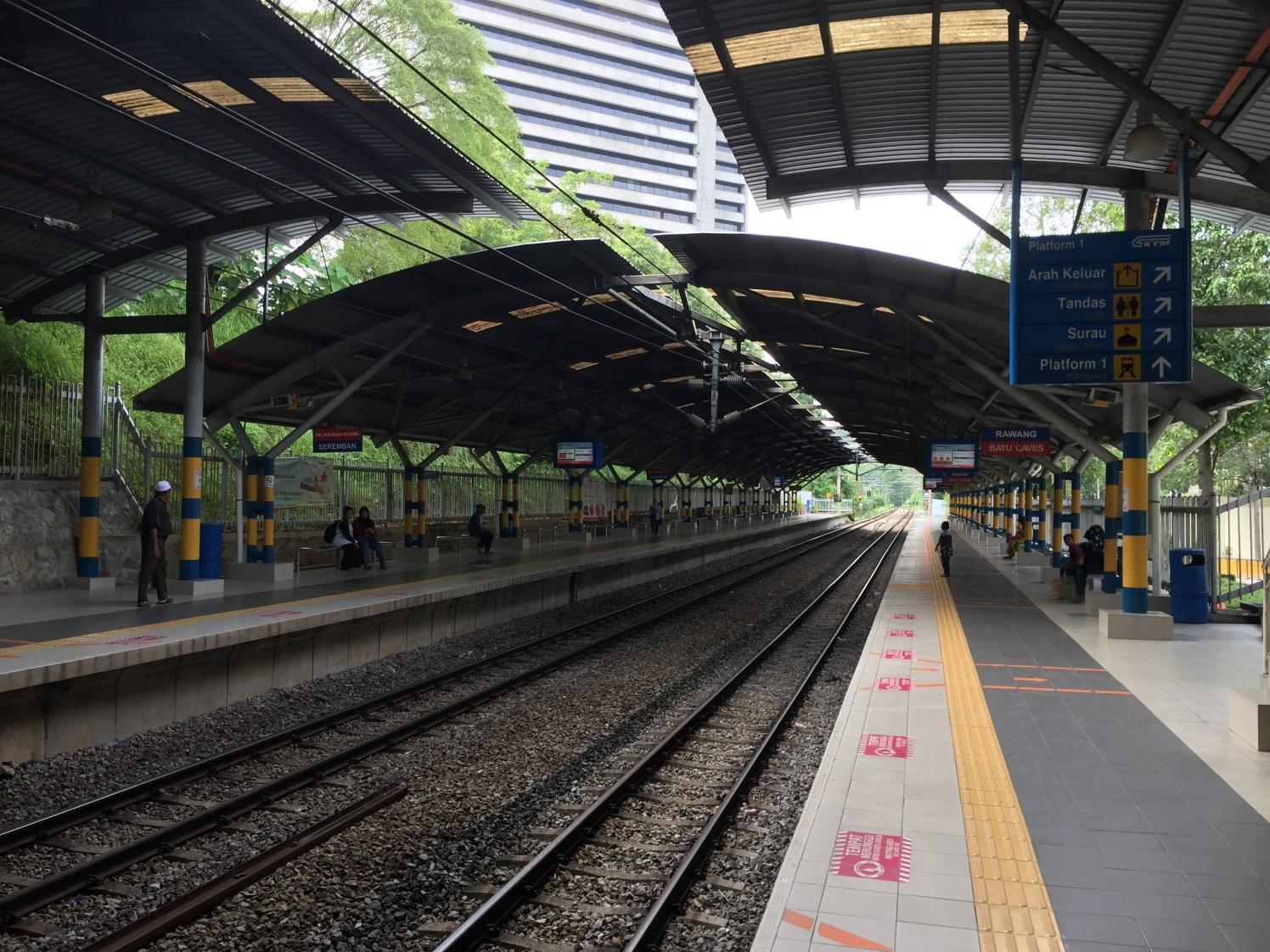 Komuter rail passenger waiting area to Batu Caves