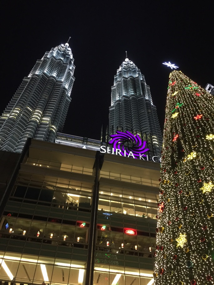 Petronas Twin Towers during Christmas